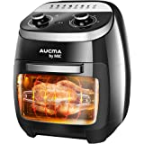 Air Fryer Oven 11L Oil Free 2000W Rotisserie Bake Grill Roast Low Fat Healthy Fast for French Fries, Dishwasher Safe Timer/Te