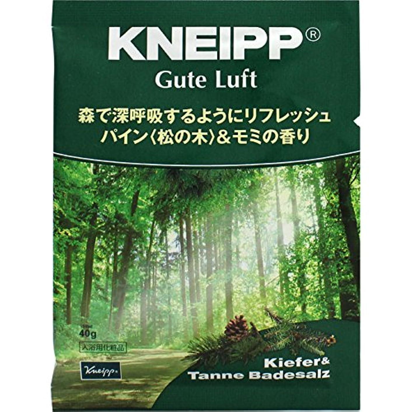 葉巻特許くクナイプ?ジャパン クナイプ グーテルフト バスソルト パイン<松の木>&モミの香り 40g