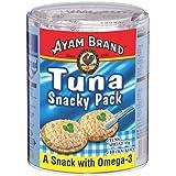 Ayam Brand Tuna Snacky Pack | Wild Caught Premium Tuna | Includes 10 Crackers | Omega 3, Vitamin E, B6 & B12 | Halal & Health