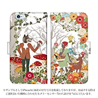 iPhone7 手帳型 ケース [デザイン:赤ずきん/マグネットハンドあり] 童話 アイフォン スマホ カバー