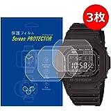 【3枚入】CASIO GW-M5610対応腕時計用高品質液晶保護フィルム高透過率キズ防止気泡防止貼り付け簡単