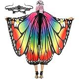 Tonak Butterfly Wings Costume Adult Halloween Butterfly Cape Costume Women Festival