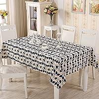 [テンカ]テーブルクロス テーブルマット  北欧 チェック テーブルカバー おしゃれ 撥水 厚手 防塵 耐熱 140*180cm