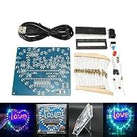 Prament DIY のカラフルな 51 MCU ハート型の光の水 LED ランプ電子キットシェル