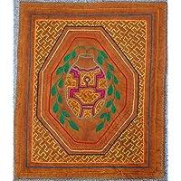 【SHIPIBO アマゾンの先住民のシピボ族の刺繍布No.13】本物のシピボ族 手刺しゅうの布 ペルー直輸入