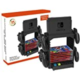 GooDGo Nintendo Switch Multi-Function Storage Bracket, Tower Holder Stand Shelf for Switch Game Disc Card Switch Console Host