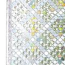 窓 めかくしシート ステンドグラス シール 窓用フィルム 目隠し uvカット 水で貼る 剥がせる 防カビ 遮光 飛散防止 日よけ 網入りガラス適用 3d虹色レトロ調 90cmx2m