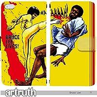 ブルース・リー Bruce Lee 手帳型 Android One S4?(G007903_01) 専用 レジェンド 功夫 pop art センス 個性的 スマホケース