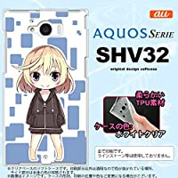 SHV32 スマホケース AQUOS SERIE SHV32 カバー アクオス セリエ ソフトケース キャラ2-A 青 nk-shv32-tp1338