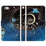 iPhone6S iPhone6 手帳型 ケース カバー ふたつ星の街 かわいい キレイ 夜 宇宙 星 月 街
