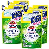「【まとめ買い】バスマジックリン 泡立ちスプレー SUPERCLEAN グリーンハーブの香り つめかえ用 330ml × 4個」のサムネイル画像