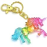 キーホルダー バッグチャーム ユニコーン 馬 キーリング グラデーション グラデ レインボー カラー カラフル ゆめかわ アニマル 動物