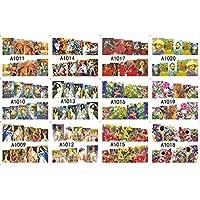 12パック/たくさん水デカールネイルアートネイルステッカースライダータトゥーフルカバーオイル塗装ヴィンテージハウスヴィラサンフラワーA1009-1020