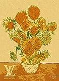 ルイ・ヴィトン キャンバスポスターGOGH ART ゴッホ ひまわり Louis Vuitton オマージュポスター Canvas #sh10a STAR DESIGN A2サイズ(420×594mm)