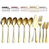 Kyraton 10 piece Stainless Steel Serving Utensil set, Serving spoons x 3,Slotted Spoons x 3,Serving Fork X1, Butter Knifes X2