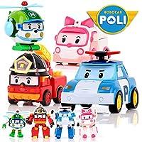 4ピース/セットrobocarポーリ韓国キッズおもちゃロボット·トランスフォーメーション·アニメアクションフィギュアのおもちゃ