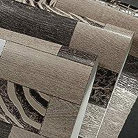 レトロなノスタルジックな木製の板の壁紙不織りのヒョウの格子縞の壁紙のリビングルームの壁紙 (Color : Color 1)