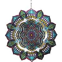 【インテリアにもガーデニングにも】 マジカルスピナー 曼荼羅-Mandala4 直径15cm ステンレス製 ウインドスピナー デコレーション 【2018 プレミアモデル】