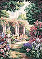 """Gold Collection Floral Retreat Counted Cross Stitch Kit-11""""X15"""" 14 Count (並行輸入品)"""