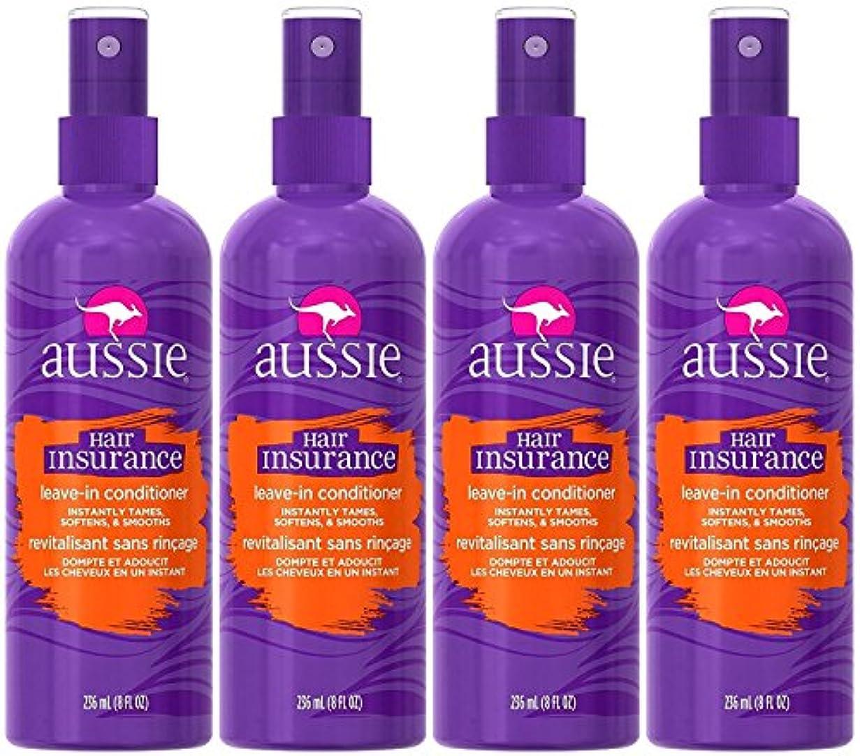ぴったり道路ムスAussie 髪の保険は、リーブインコンディショナー8オンス(4パック)