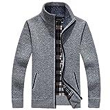 (monicajpstore)メンズ 厚い ジップ カーディガン カウチン セーター カジュアル ファッション 男性 用 春服 秋服 冬服 6色
