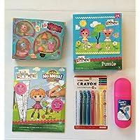 Lalaloopsy Mini Lala Oopsie Little人形妖精、カラーブック、パズル、Diasoスライドクレヨン( 6 )とピンク携帯ケース再生バンドル。The Perfect Child / Girl Valentineまたはイースターギフト( 5 Items )