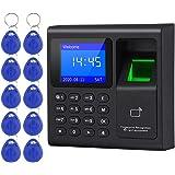 LIBO Intelligent Biometric Fingerprint Time Attendance Machine Time Clock Recorder Employee Check-in Device Access Control Ke