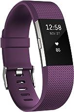 Fitbit フィットビット 心拍計 活動量計 フィットネスリストバンド Charge2 心拍 睡眠 VO2max 健康管理 Plum プラム Sサイズ [日本正規品] FB407SPMS-JPN