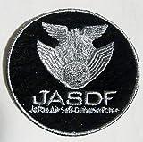 航空自衛隊JASDF/アイロンワッペン/パッチ黒/中