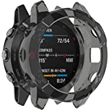 HEYUS for Garmin Fenix 6/6 Pro/6 Solar Case, Soft PC Protective Cover Bumper Shell Compatible with Garmin Fenix 6/6 Pro/6 Sol