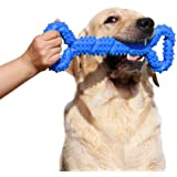 LECHONG Durable Dog Chew Toys 13 Inch Bone Shape Extra Large Dog Toys with Convex Design Strong Tug Toy for Aggressive Chewer