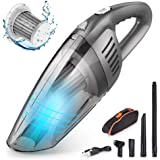 CCJK Handheld Car Vacuum Cleaner Cordless with 120W High Power,7000PA USB Charging Portable Auto Vacuum,Strong Aluminum Fan,