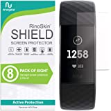 (8-Pack) RinoGear Screen Protector for Fitbit Charge 4 or 3, SE Case Friendly Fitbit Charge 4 or 3, SE Screen Protector Acces