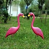 ガーデンの装飾 家の装飾 お庭の置物 フラミンゴ 雑貨 ピンクフラミンゴ かわいい動物 飾りもの 鳥飾り ガーデニングイ…