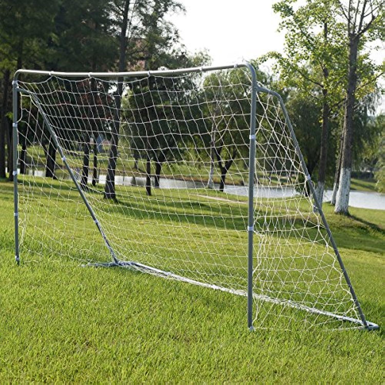 GHP 12 ' x6 'パウダーコーティングスチールPE Net Football Soccer Goal withアンカー&ストラップ
