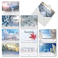 Holiday DevotionsクリスマスFunny Greeting Card 10 Assorted Blank Note Cards (M6661XSB)