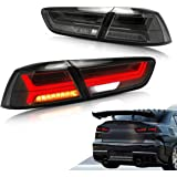 VLAND New Item LED TailLights taillamp rearlight for Mitsubishi Lancer/EVO X 2008-2017 LED Tail LAMP Black Projector with Seq