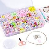 LITTLEFUN Jewelry Making Craft Beads Kits for Kids Girls- Best Christmas Birthday Gift