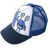 (コ-ランド) Co-land キッズ帽子 野球帽 メッシュキャップ ベースボール 子供用 ベビーハット 赤ちゃんキャップ モンスター図案 女の子 男の子 お出かけ UVカット