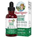 (1 Year Supply) Vegan Iodine Drops by MaryRuth's - Nascent Liquid Iodine Supplement Drops Solution - Pure, Clear Iodine - Pro