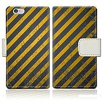 【apple iPhone6s (4.7インチ)】 手帳型ケース PVC レザー スリムダイアリー アイフォン6sケース 【Keepoutデザイン】
