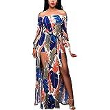 Tsmile Women Summer Boho Long Maxi Dress Evening Party Beach Dress Sundress