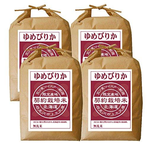 ゆめぴりか 無洗米 20kg (5kg×4袋) 五つ星お米マイスター契約栽培米 平成30年度産 北海道産