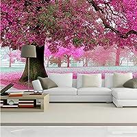 Mingld 3D壁の壁画壁紙風景桜カスタム壁紙森の風景寝具室ソファテレビ背景-150X120Cm