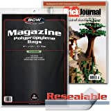 Resealable Magazine Bag (22cm X 28cm ) 100 count