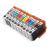 CANON (キャノン) PGI-73 全10色セット (MBK/PBK/C/M/Y/PC/PM/GY/R/CO)【 PIXUS PRO-10 / PRO-10S 用】 ICチップ残量表示検知機能付き Mt.Smile製 純正 互換 インクカートリッ