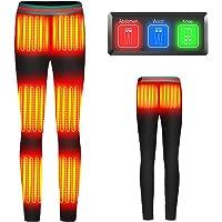 Jacksit 電熱パンツ ヒーターズボン【8つヒーター 3つの独立した温度設定】電熱弾力ズボン usb ロングパンツ…