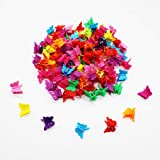 Butterfly Hair Clips, 100 Packs Assorted Color Beautiful Mini Butterfly Hair Clips Hair Accessories for Girls and Women(Rando