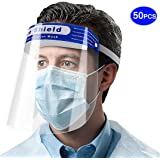AIEOE Safety Full Face Shield Face Protection Clear Cover Face Shield Hat Fogproof Dustproof Shield Outdoor Elastic Band Prot