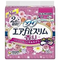 ソフィ エアfitスリム 香り Happyブーケの香り 特に多い昼用-長時間用 25cm 羽つき 16枚 ≪おまとめセット【6個】≫